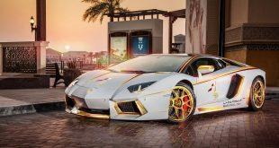 رجل قطري يمتلك سيارة لامبورجيني مغطاة بالذهب 2017