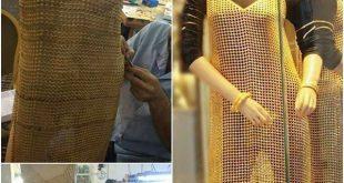 بالصور اول فستان من ذهب في العراق