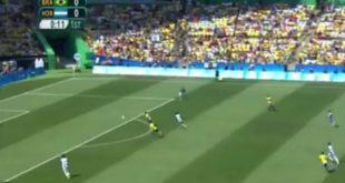 بالفيديو نيمار يسجل اسرع هدف في اولمبياد ريو دي جانيرو 2016