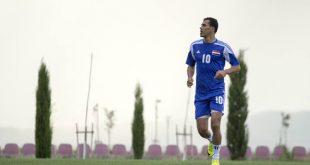 يونس محمود يعود الى الملاعب مع مدرب اللياقة البدنيه