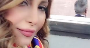 الفنانة اللبنانية يارا في ملعب الكامب نو