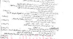 اسئلة امتحان اللغه العربية الصف الثالث متوسط 2018 الدور الاول