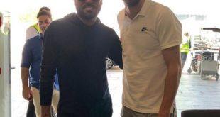 صوره تجمع الفنان وليد الشامي مع لاعب برشلونة جيرارد بيكيه