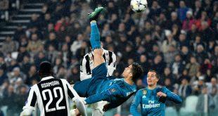 هدف كريستيانو رونالدو ضد يوفنتوس يفوز بجائزة افضل هدف في اوروبا لموسم 2018