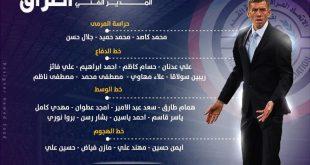 قائمة اللاعبين المنتخب الوطني المستدعاة لملاقاة الكويت