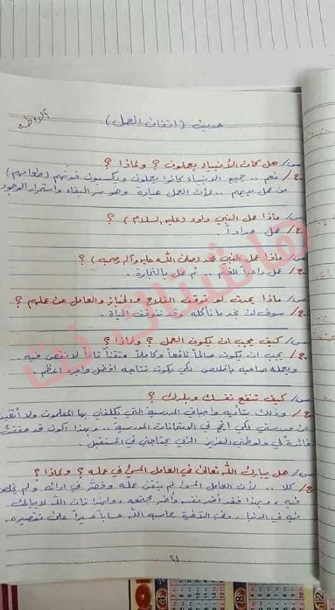 ملخص الاسلامية كامل للصف السادس الابتدائي 2019 12-1