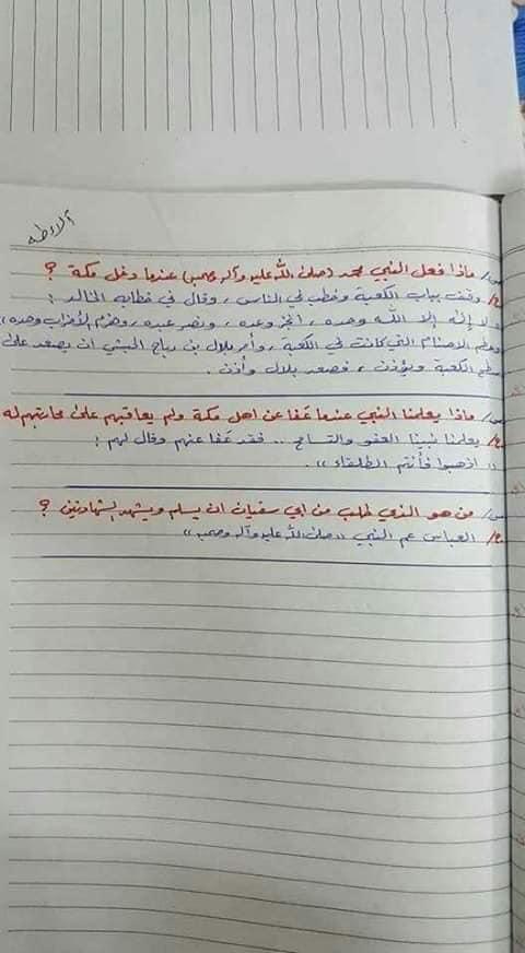 ملخص الاسلامية كامل للصف السادس الابتدائي 2019 17