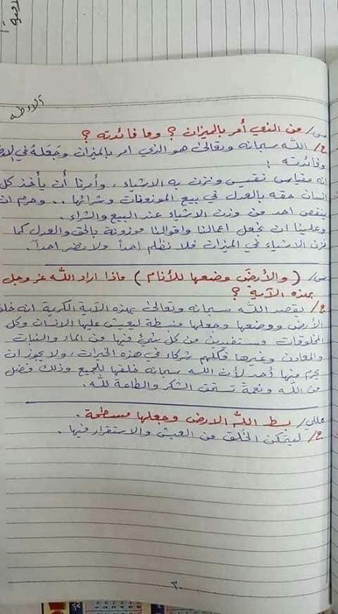 ملخص الاسلامية كامل للصف السادس الابتدائي 2019 21