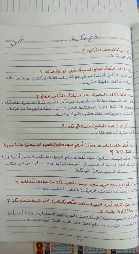 ملخص الاسلامية كامل للصف السادس الابتدائي 2019 22