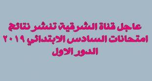 عاجل قناة الشرقية تنشر نتائج امتحانات السادس الابتدائي 2019 الدور الاول