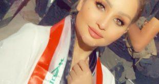 الشاعرة شهد الشمري في المظاهرات ساحة التحرير