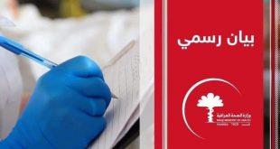 الموقف الوبائي اليومي للإصابات المسجلة لفايروس كورونا المستجد في العراق