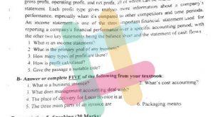 اسئلة اللغة الانكليزية السادس المهني الفرع التجاري الادارة والمحاسبة الدور الاول 2020