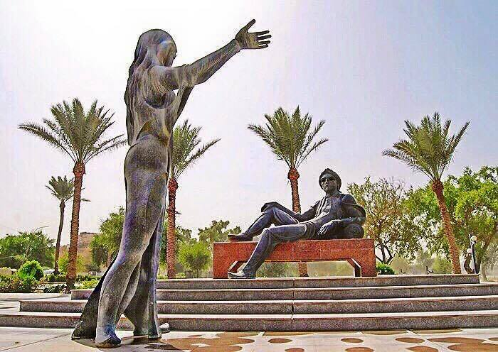 تمثال شهرزاد وشهريار