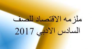 تحميل ملزمة الاقتصاد للصف السادس الادبي 2017