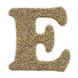 مزخرف حرف E بالذهب