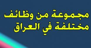 مجموعة من وظائف مختلفة في محافظات العراق