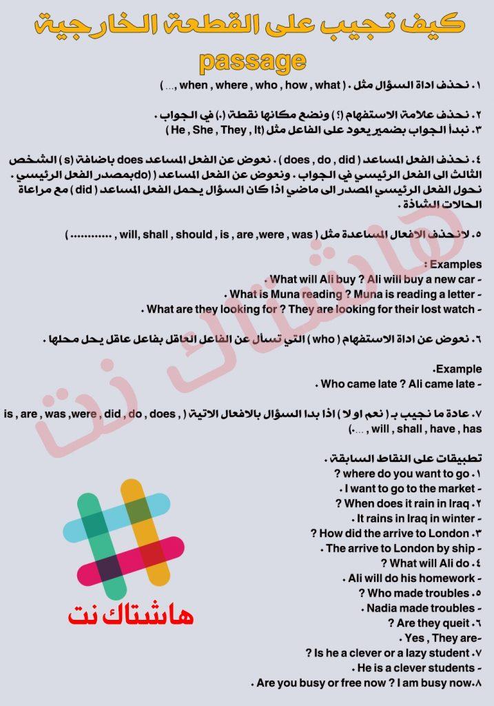 كيفية حل القطعة الخارجية اللغة الانكليزية للصف السادس الابتدائي 2019 Untitled-1-717x1024