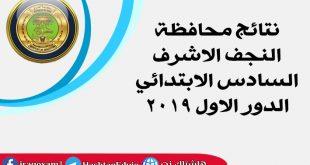 نتائج محافظة النجف الاشرف السادس الابتدائي الدور الاول 2019