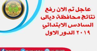 عاجل تم الان رفع نتائج محافظة ديالى السادس الابتدائي 2019 الدور الاول