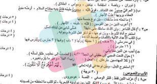 اسئلة اللغة العربية للصف الثالث المتوسط الدور الثالث 2019