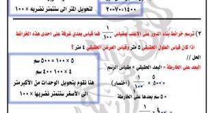 شرح لمقياس الرسم مع الامثلة وحل التمارين الرياضيات السادس ابتدائي