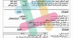 ملخصات قواعد اللغة العربية للصف السادس الابتدائي 2020