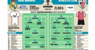 تشكيلات متوقعة لمباراة اليوم بين ريال مدريد و اتلتيك بلباو