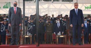 حضور القائد العام للقوات المسلحة مصطفى الكاظمي خلال ذكرى تأسيس الشرطة العراقية