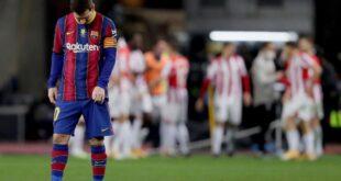 في ليلة طرد ميسي برشلونة يخسر نهائي السوبر الاسباني