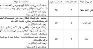 تعلن إحدى الشركات النفطية في محافظة واسط عن حاجتها إلى الوظائف التالية