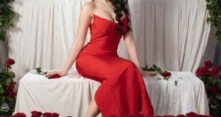 ملكة جمال لبنان ساره الحاج واطلالتها في عيد الحب 2021