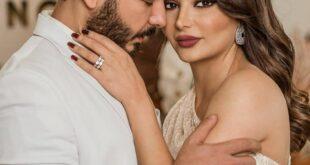 هيفاء حسوني و بكر خالد يحتفلون بعيد زواجهم الاول