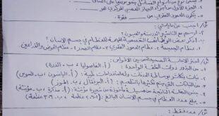 أسئلة امتحان مادة العلوم الشهر الأول للصف السادس الابتدائي 2021