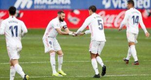 ريال مدريد تفوز على هويسكا بهدفين مقابل هدف من الدوري الإسباني
