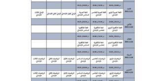 وزارة التربية تعلن جداول البث المباشر الخاصة بالمرحلة الابتدائية والثانوية
