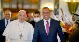 بالصور الفعاليات الشعبية التي استقبل بها بابا الفاتيكان في مطار بغداد الدولي