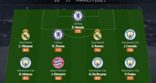 تشكيلة الأسبوع من دوري أبطال أوروبا
