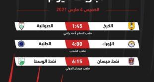 مباريات افتتاح الجولة الثانية والعشرين لدوري الكرة الممتاز