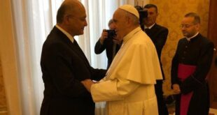مشاهد الإستقبال للبابا فرنسيس في قصر السلام