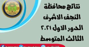 نتائج محافظة النجف الاشرف الدور الاول 2021 الثالث المتوسط